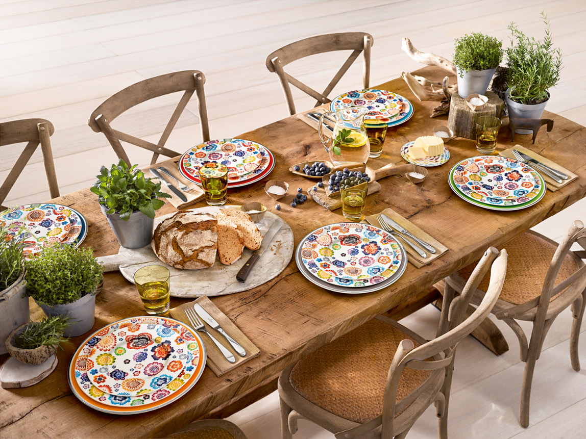 Villeroy boch decor anmut bloom surface werner for Idee souper amis