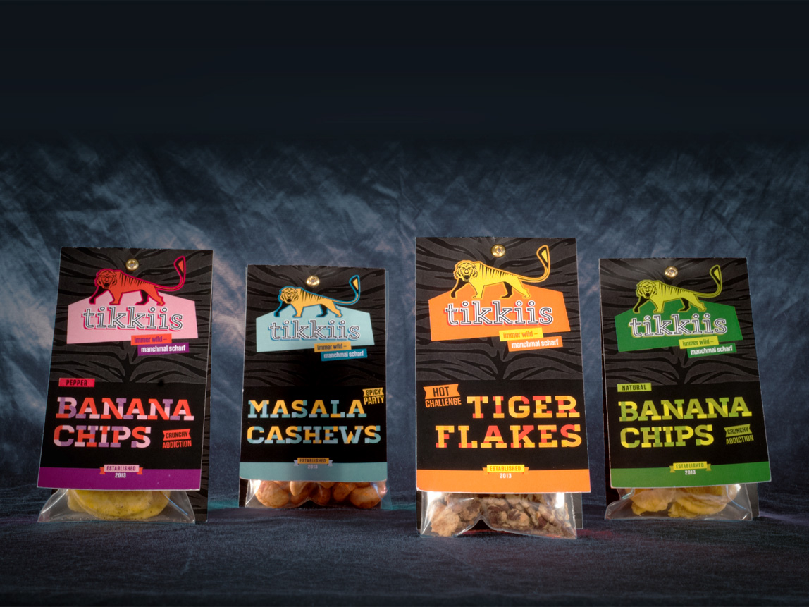 Tikkiis – Packaging Tikkiis Snacks