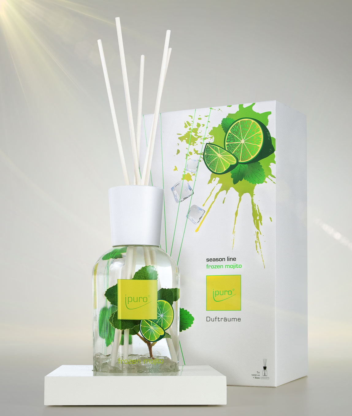 ipuro perfumes room perfume frozen mojito surface. Black Bedroom Furniture Sets. Home Design Ideas